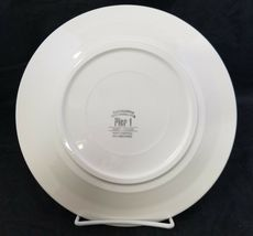 "Pier 1 Christmas Tree Dinner Plates Set of 2 Made in Italy 9.75"" White Red Trim image 4"