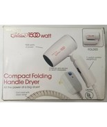 Perfection Classic 1500 Watt Compact Folding Handle Dryer Hair Dryer PL125H - $37.39