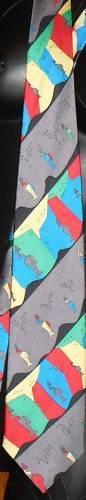 ANNE SURKAMP KREMER silk abstract Necktie Tie Germany Anne Surkamp