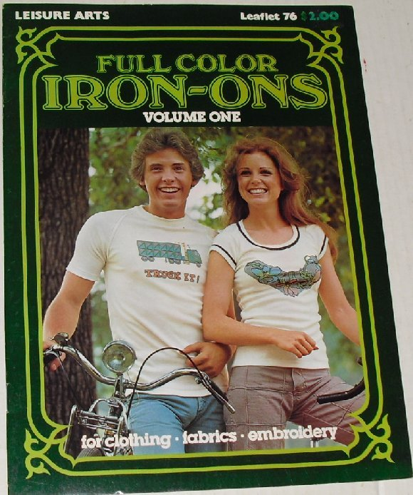 Vintage 70s Leisure Arts IRON ON Transfer 1 Book 4 clothing