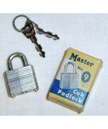 "Vintage MASTER Cub Padlock, No. 9, in Box - TINY 3/4"" - $9.50"