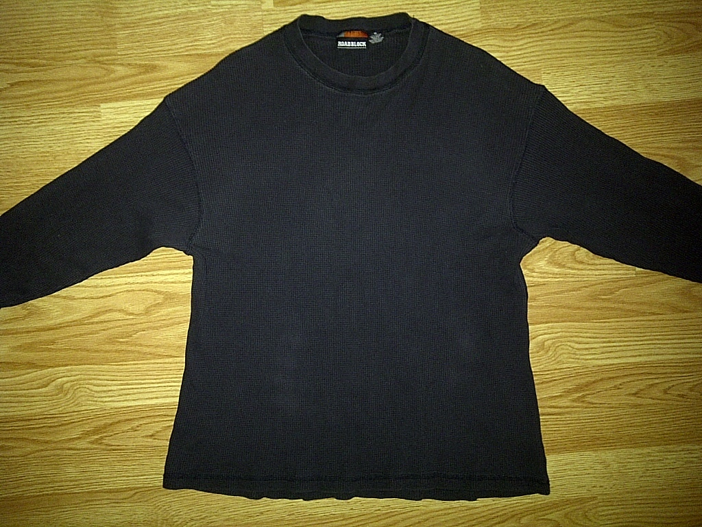 ROADBLOCK Hip Hop Urban Black Long Sleeve Thermal Tee T-Shirt Extra Large XL