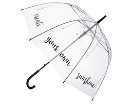 Eleven Squared Dome Shaped Umbrella for Kids, Adults, Teens - Clear Tran... - $25.98