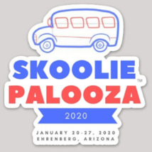 Skooliepalooza™ 2020 Official Commemorative Vinyl Sticker - $6.00