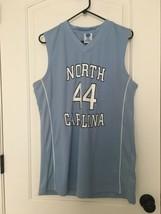 NCAA Men's North Carolina #44 Basketball Jersey Sleeveless Top Sz L  - $91.00