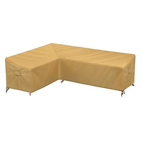 Sunkorto Patio L-Shaped Sectional Sofa Cover, Left Facing Furniture Cover Garden