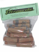 Mixed, 1c - 25c, Crimped End Gunshell Coin Wrappers, 40 Pack  - $4.98