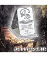 WR Silver Plated Metal Bar Northwest Territorial Mint Art Bullion Collec... - $3.49