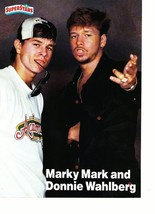 Marky Mark Wahlberg Donnie Wahlberg magazine pinup clipping New Kids 90's