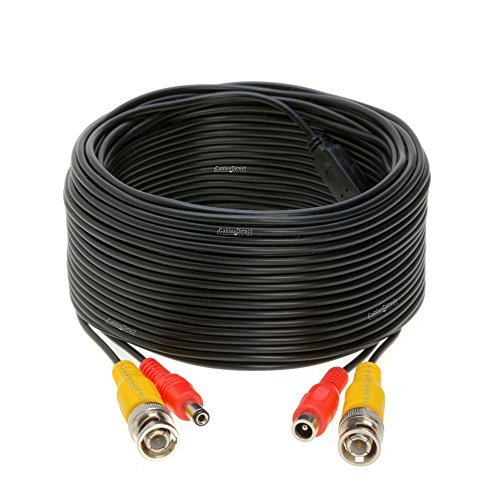 100ft Black Premade Bnc Video Power Cable Wire For