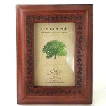 Wooden Mahogany Reddish Brown Floral Engraved Picture Frame 4x6 Photo NW... - £10.64 GBP