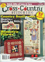 Cross Country Stitching Magazine June 2000 Country Sampler - Garden Welcome  - $12.50