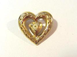 Vintage sterling silver 925 goldtone Heart pendant - $6.00