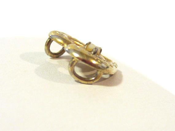 Vintage sterling silver 925 goldtone Heart pendant