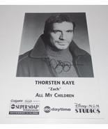 Thorsten Kaye Autograph Reprint Photo 9x6 All My Children 2004 Bold Beau... - $9.99