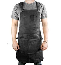 Waterproof Canvas Work Apron for Men and Women, Heavy-Duty Waxed for Dur... - $39.98