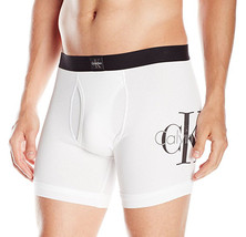 NEW CALVIN KLEIN ORIGINS COTTON BLEND STRETCH WHITE UNDERWEAR BOXER BRIEF - $13.99