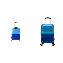 "20"" Expandable Polycarbonate Carry On Spinner Luggage Suitcase Two Tone ... - $84.76"