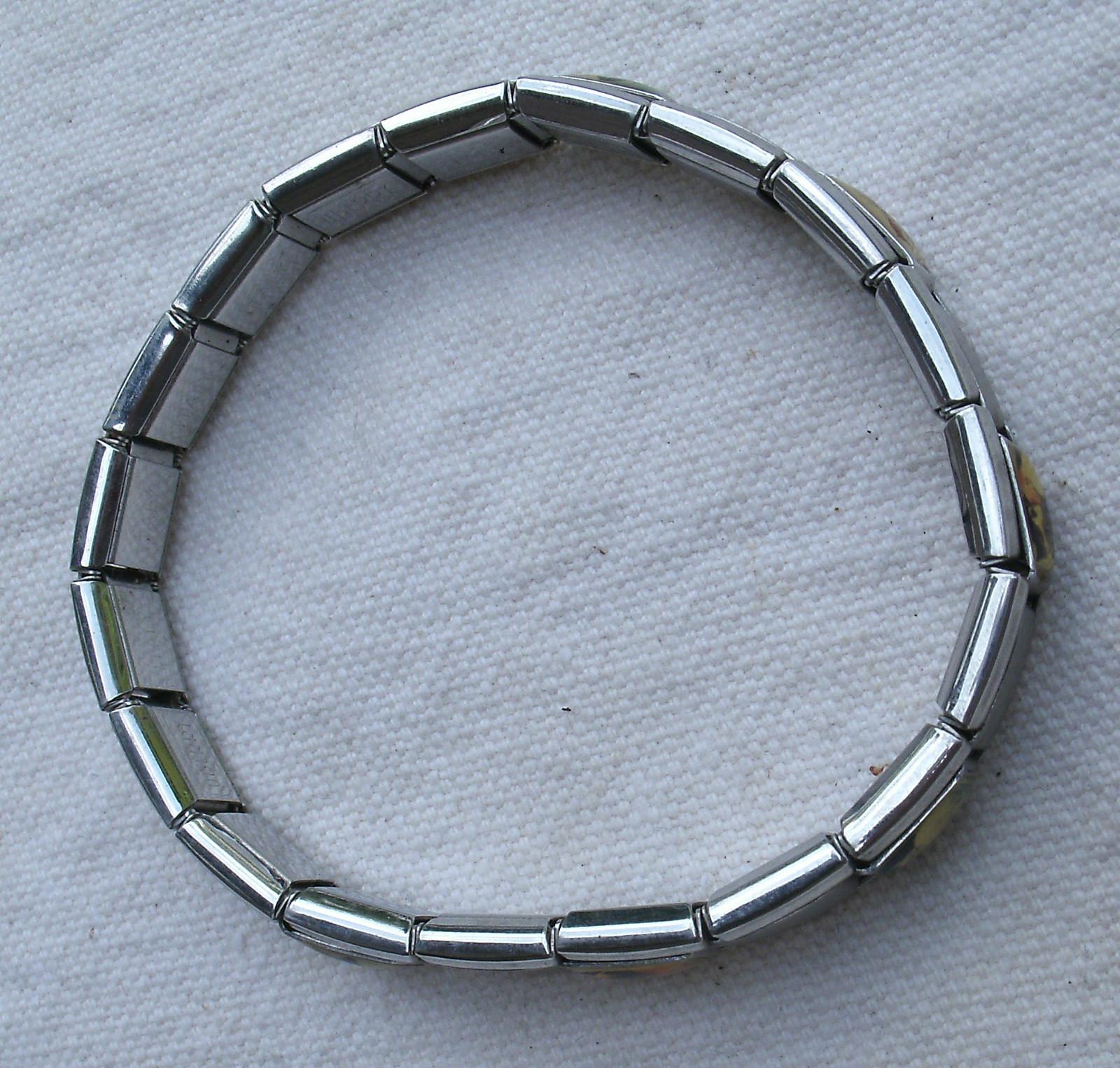 Italian Charm Bracelet Brands: Italian Charm Link Bracelet, Silver,stretchy,from 2000