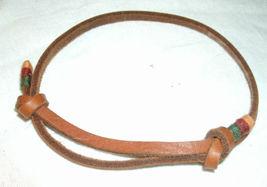 Leather Bracelet in natural brown, adjustable, ... - $6.99