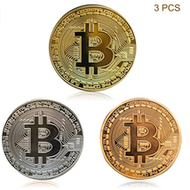 Bitcoin Commemorative Coin Gold Plated BTC Limited Edition Collectible Coin - $11.99