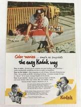 Kodak Color Movies Camera Vtg 1951 Print Ad - $9.89