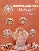 Christmas Lacie Angel & Ornaments Lace Net Darning PATTERN Leaflet - $0.89