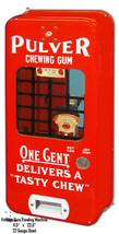 Vintage Gum Vending Machine Reproduction Cut Out Metal Sign 11.5x23.5 - $34.65