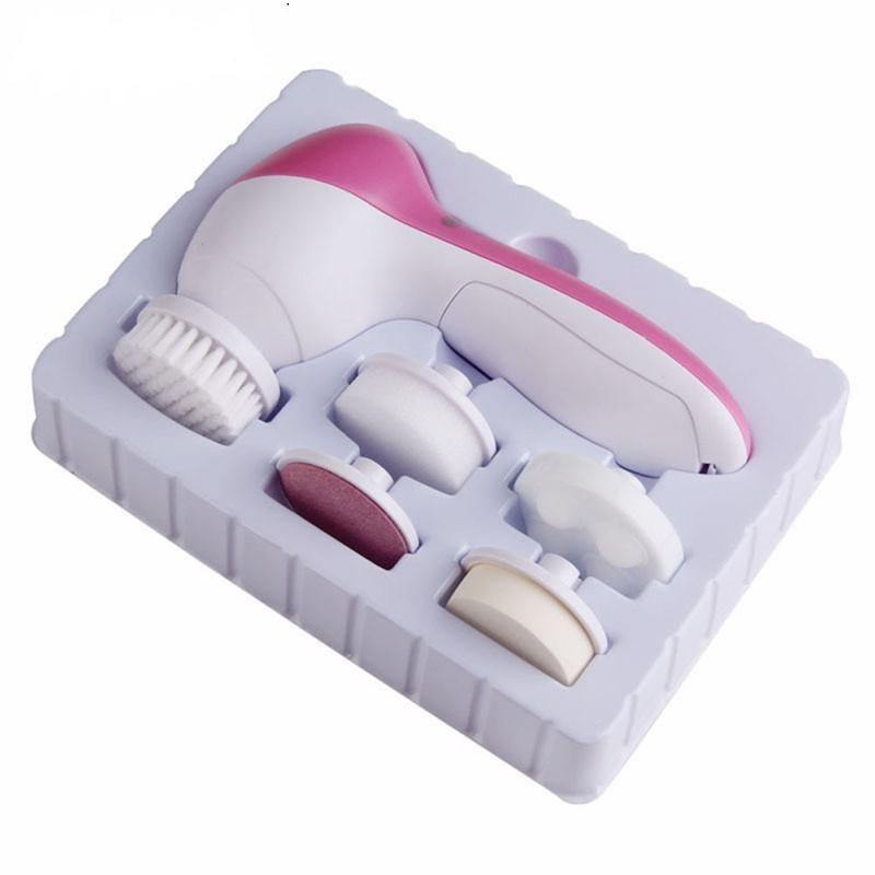 5 In 1 Electric Facial Cleaner Massager Brush Face Skin Care Pore Deep Scrubber