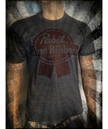 Pabst Blue Ribbon beer shirt Vintage look and feel all sizes hipster emo... - $14.69+