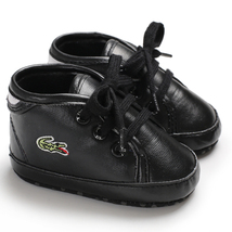 New Baby Black Walking Shoes Leather Toddler Rooms Shoes Size 1,2,3 L186 - $16.99