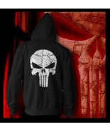 The Punisher No Sweat Skull Logo Men Adult Hoodie Marvel Comics Seal tea... - $35.99