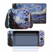 Taifond Starry Night Full Set Faceplate Skin Decal Stickers for Nintendo... - $19.76
