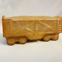 Boyd Glass Boyd's Special Train coal hopper - Caramel / Dk Tan - $8.86