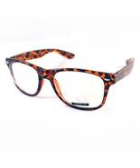 Classic Square Horn Rim Eyeglasses Clear Lens Glasses Tortoise Brown - $8.86