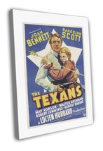The Texans 1938 Vintage Movie FRAMED CANVAS Print 3 - $19.95
