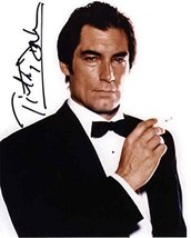 Timothy Dalton James Bond Smoking Signed 8x10 Photo Authentic COA - $296.99