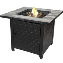 Blue Rhino Lp Firepit 50,000 btu 31.5 In Patio Deck Fire Table w Table I... - £186.08 GBP