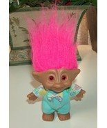 Ace Troll with Pink Heart Jewel in Pajamas and Bow Tie - $10.00