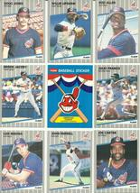 (23) 1989 Fleer Cleveland Indians (23 Card Complete Team Set) See Scans! - $3.45