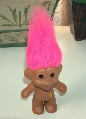 Primary image for Troll with Pink Hair and Yellow Flower on Body