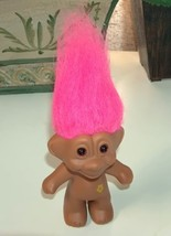 Troll with Pink Hair and Yellow Flower on Body - $8.00