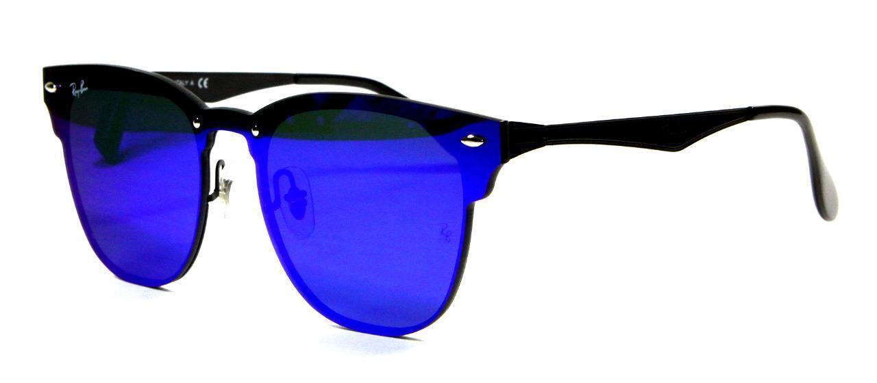 2128e7de5b Ray Ban 3576N 153 7V Blaze Clubmaster Violet Bluew Lens Sunglasses 47mm New