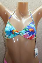*NEW Ralph Lauren Daisy Floral Halter Swimwear Bikini Top size XS XSmall #F233 - $29.89