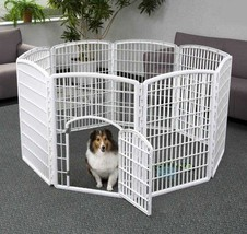 Animal Exercise Pen Pet Play 8 Panel Puppy Dog Cage Large Open Gate Fenc... - $81.59