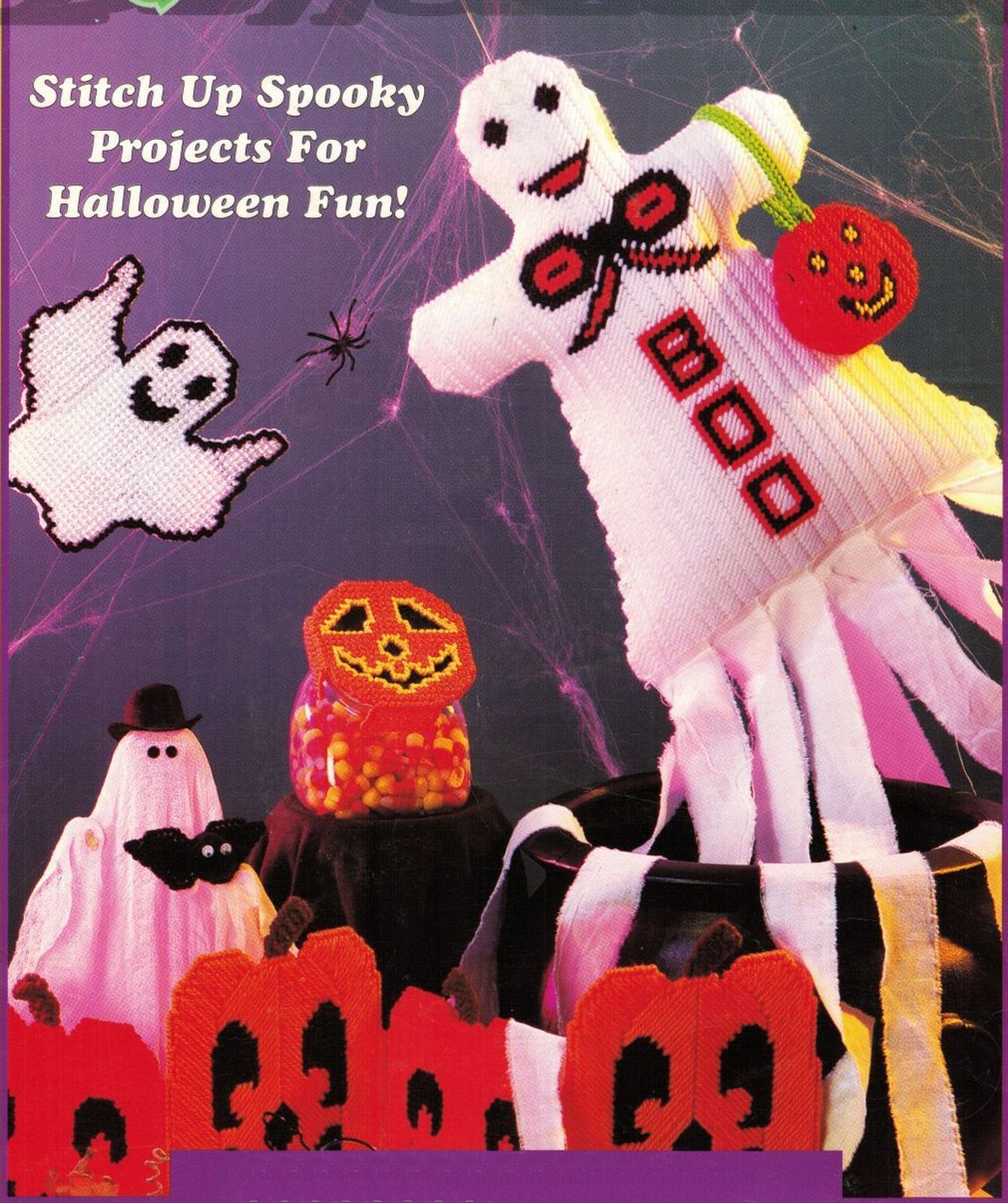 plastic canvas halloween tissue cover screen and 50 similar items