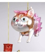 Katherine's Collection calico Cat Christmas tree Ornament pink tutu 22-24376 - $16.99