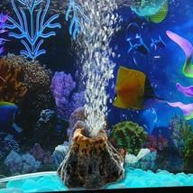 Aquarium Decor Volcano Shape Fishes Tank Decoration Oxygen Pump Air Bubb... - €6,08 EUR