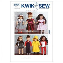 Kwik Sew Children's Sewing Pattern 2921 - Doll Clothes (O/S) - $13.72