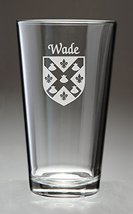 Wade Irish Coat of Arms Pint Glasses - Set of 4 (Sand Etched) - $56.79